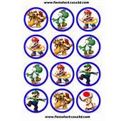 Etiquetas Circulares Para Tu Fiesta Tematica De Mario Bros Ideal