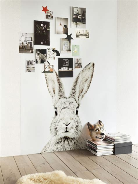 rabbit wall stickers chalkboard wall sticker with rabbit theme