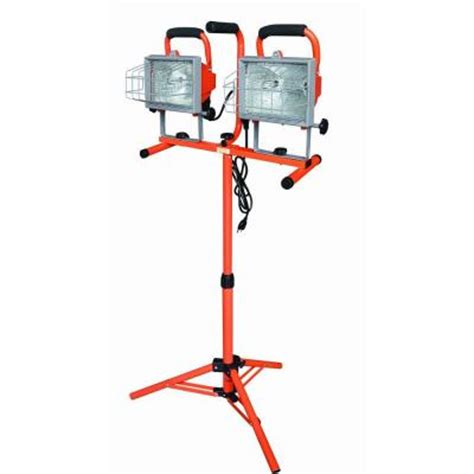 home depot work bench with lights and sounds tool set hdx 1000 watt halogen work light with tripod discontinued