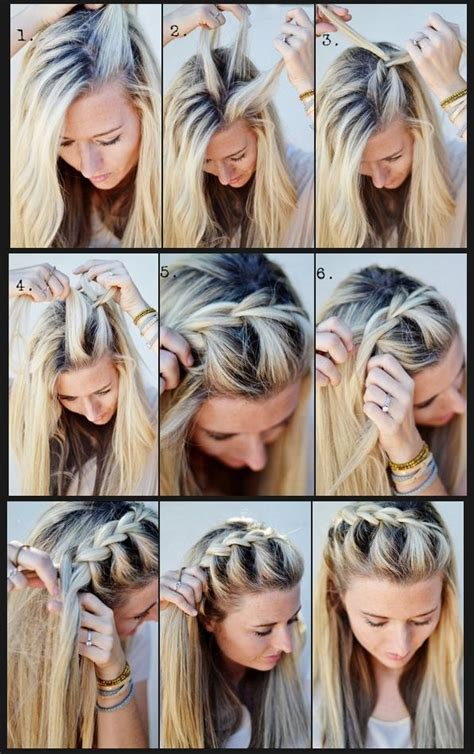 howtodo a twist in thefringe step by step hairstyles how to french braid half up side