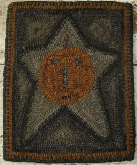 primitive rug hooking pattern
