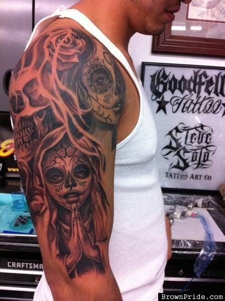 dia delos muertos tattoos for men dia de los muertos skull tattoos for www pixshark