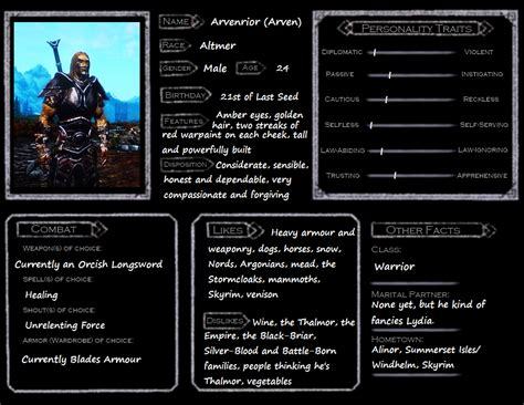 skyrim character template arvenrior by skyflower51 on