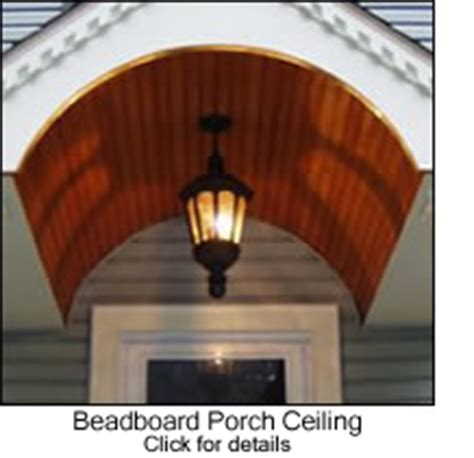 Traditional Wainscoting - beadboard porch ceilings