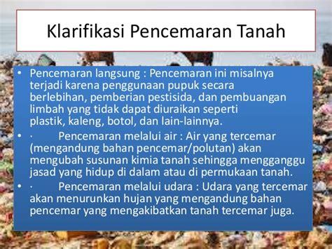 Limbah Kimia Dalam Pencemaran Udara Dan Air Ign Suharto dak pencemaran tanah terhadap lingkungan