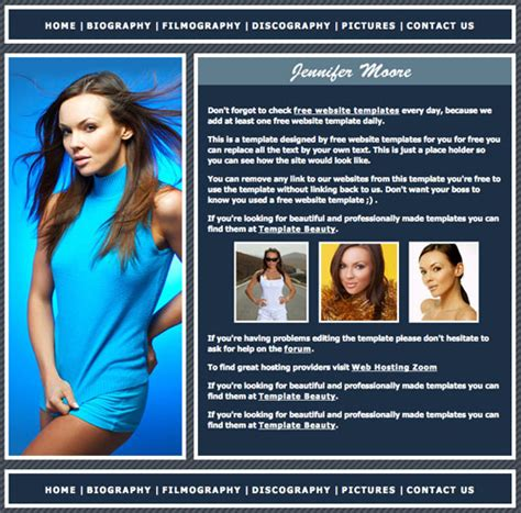 jennifer love hewitt template free website templates