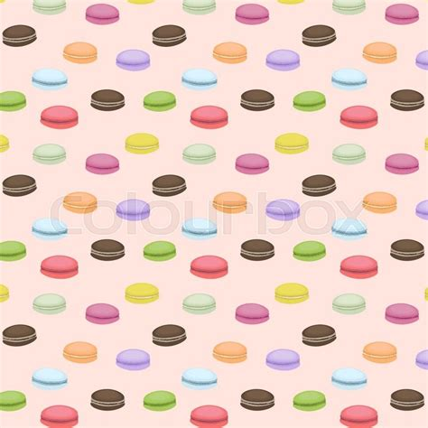 macarons pattern pink cute seamless pattern with macaroons vector background