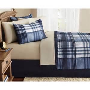 complete bedroom in a bag mainstays bed in a bag complete bedding set walmart com