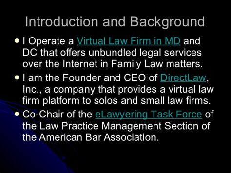 aba family law section unbundling legal services defined