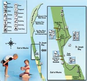 florida peninsula map st joseph peninsula state park cground motorcycle