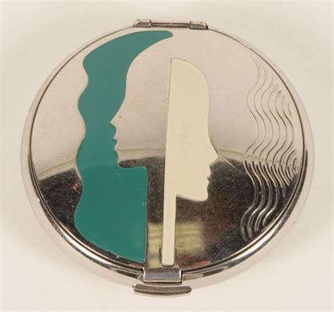 Deco Vanity Richard Hudnut Art Deco Enameled Compact In Original Box