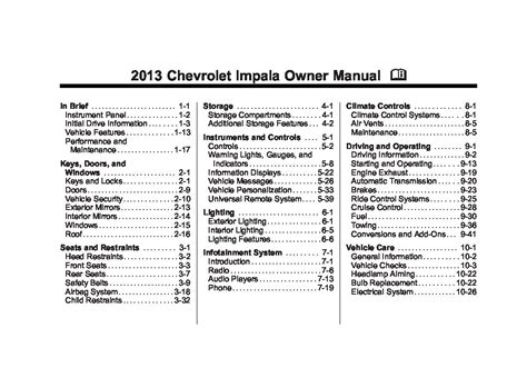 chevy impala owners manual warranty 2012 chevy impala owners manual specs price release date 2013 chevrolet impala owners manual just give me the damn manual