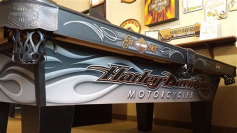 harley davidson laminate pool table by olhausen billiards