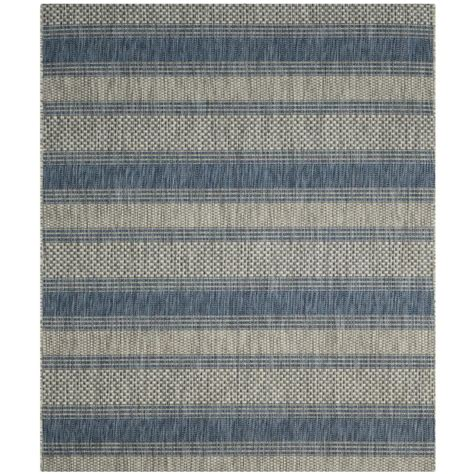 gray and navy rug safavieh courtyard gray navy 8 ft x 11 ft indoor outdoor area rug cy8464 36812 8 the home depot