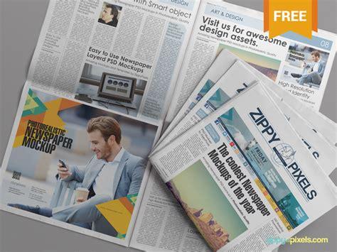 free psd newspaper advertisement mockup by zippypixels