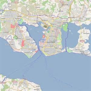 Portsmouth England Map by Portsmouth England City Map