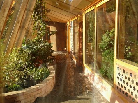 Earthship Interior by Inside The Conservatory At The Brighton Earthship