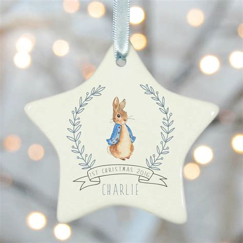 personalised first christmas tree decorations by rose