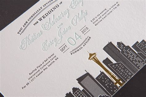Wedding Invitations Seattle by Formal Seattle Wedding Invitations Pike Press