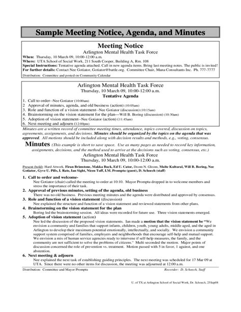 Sample Email With Resume Attached by Sample Meeting Notice Agenda And Minutes Free Download