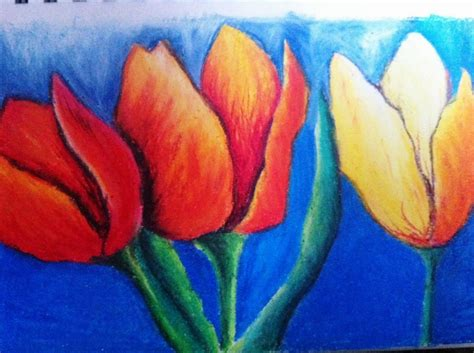 Painting With Pastels flower drawing my is an abstract painting