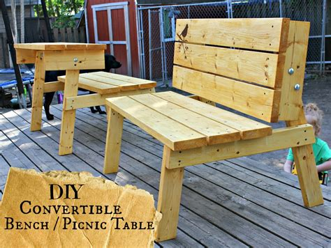 bench to picnic table plans the good kind of crazy convertible bench picnic table you