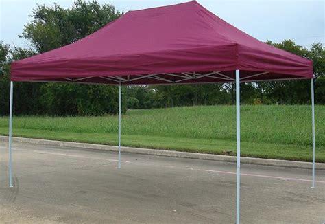 10x15 Gazebo 10x15 Pop Up 4 Wall Canopy Tent Gazebo Ez Maroon