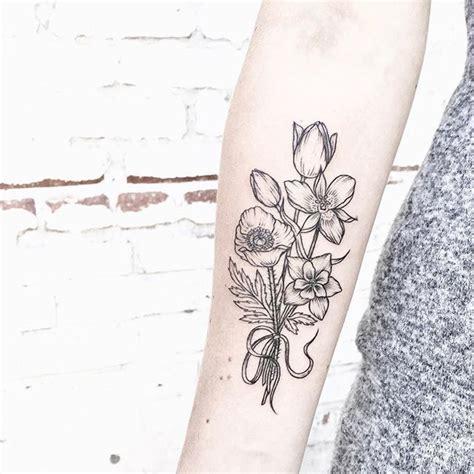 bouquet tattoo designs best 25 bouquet ideas on