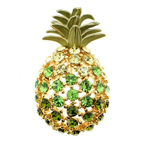pineapple brooch multicolor golden pineapple pin brooch