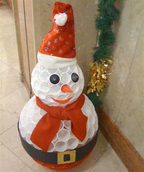 mueco de nieve con pocos vasos de plastico el rinc 243 n de pt del sansue 241 a 191 c 243 mo hacer un mu 241 eco de