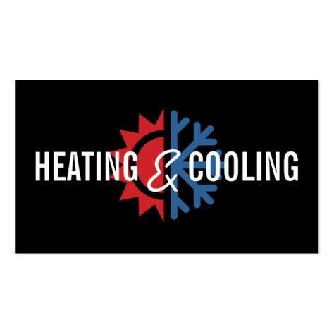 heating and cooling business card templates heating and air conditioning business card zazzle