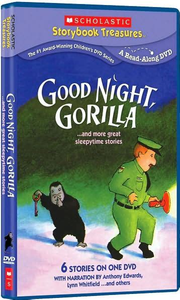 libro good night gorilla good night gorilla more great sleepytime stories by anthony edwards 767685107201 dvd