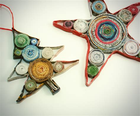 Ornaments With Paper - eco friendly craft ideas from magazines