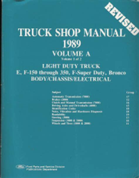 1989 Ford Econoline F 150 Thru 350 F Super Duty Amp Bronco