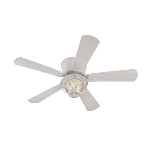 harbor merrimack ceiling fan shop harbor merrimack 52 in white flush mount
