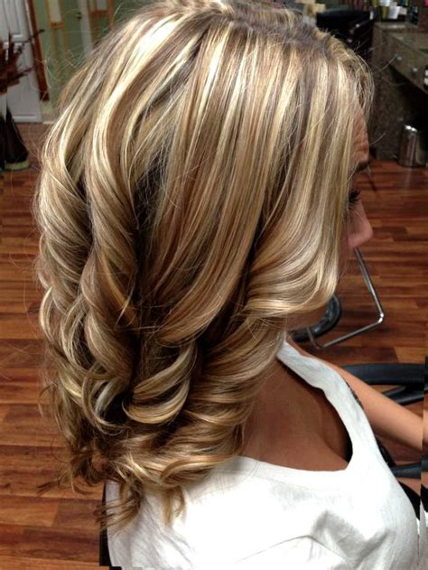 medium length hairstyles with lowlights brunette shoulder length hair with blonde lowlights