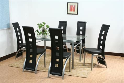Glass Dining Tables Sets China Dining Table Set With Glass Top Pu Gs 7068 China Dining Chair Table