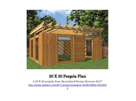 build a pergola using 20 x 20 pergola plan