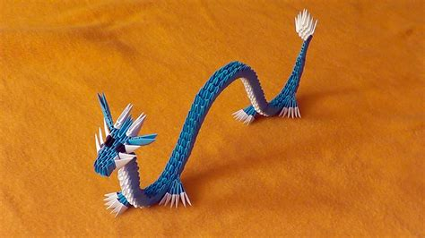 dragon origami tutorial easy 3d origami chinese dragon tutorial gyarados video with