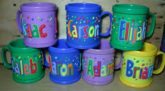 new john hinde kids 3d personalized name plastic cup mug