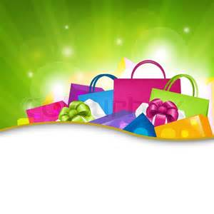 bright shopping background vector illustration stock