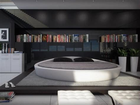 modern leather beds opus modern round leather bed 187 gadget flow