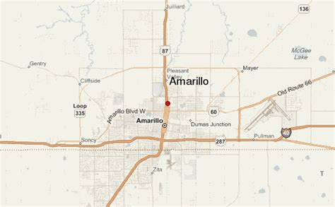 amarillo texas map amarillo location guide