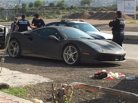 stelan car yellow yellow 488 stolen in mexico then recovered in new