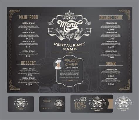 design menu card free download restaurant menu with cards vector design 09 vector card
