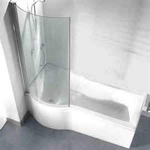 trojan concept p shape left hand bath 1675mm with shower april p shape shower bath with optional front panel and