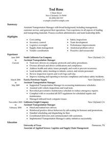 Transport Manager Sle Resume by Unforgettable Assistant Manager Resume Exles To Stand Out Myperfectresume