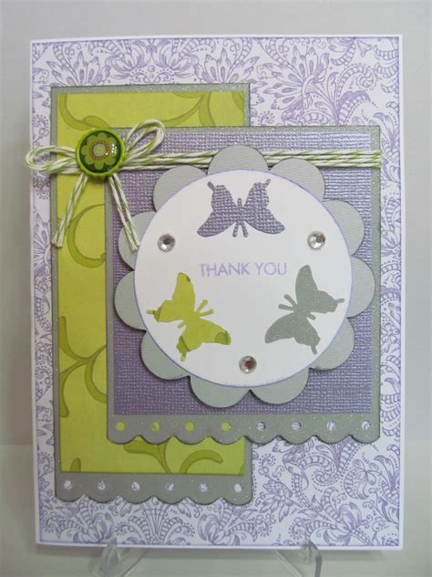 Handmade Thank You Card - savvy handmade cards handmade thank you card