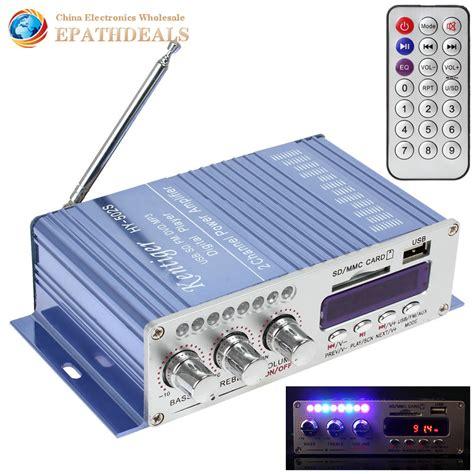 Power Lifier Audio Seven hy502s bluetooth car power lifier stereo sound mode hifi 2 channel mini digital fm audio