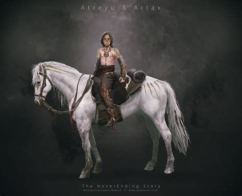 neverending story redesign atreyu artax by vorace art